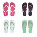 groothandel Schoenen: Dames flip-flops met gekleurde band 36-41