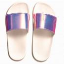 Großhandel Schuhe: Sommer glänzende Hausschuhe für Frauen 21281 Ocean