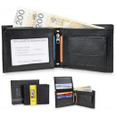 Elegant JCB51 RFID men's leather wallet