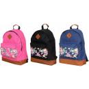 Women's backpack backpacks flowers on the pock