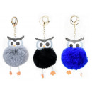 Keychain key ring purse pompon owl