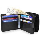 Großhandel Geldbörsen: Eine elegante NC43 RFID Leder Herrenbrieftasche
