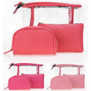 wholesale Travel Accessories: Women's vanity case cosmetic set 3in1 WB102