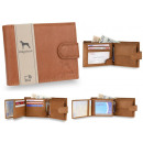 Elegant men's wallet natural leather RFID NC42