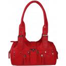 Großhandel Taschen & Reiseartikel:-Frauen-Handtaschen roter Rahmen HIT