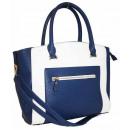 wholesale Handbags: Beautiful  Women's  Handbag Navy-White ...