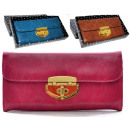 wholesale Wallets: PS80 Elegant Ladies Wallet decorated with gold.