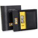 An elegant JCB52 RFID men's leather wallet