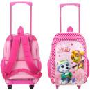 wholesale School Supplies: Paw Patrol Girl pink Walizka / Backpack on wheels