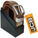 Thick leather belt JCB3 caramel