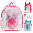 Backpack backpack for children with a set of dishe