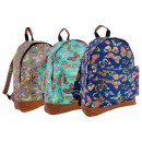 groothandel Rugzakken: CB162 Butterflies  Neon Backpack Ladies A4 Rugzakke