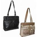 LHB32 Damen Lederhandtasche A4