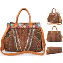 Großhandel Handtaschen: Geldbeutel  Frauen-Koffer Band A4 + AZTEKISCHE New