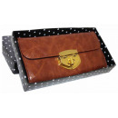 Elegant women's wallet decorated with gold. HI