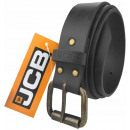 Thick men's leather belt by JCB2 black / gray
