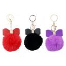 Keychain pendant pompom Bow colors