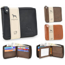 NC38 Natural Leather Men's Wallet Elegant