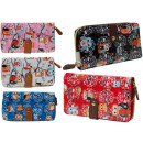 PS91 Owls Snow  portfolio Painted Ladies Wallets