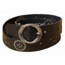 ingrosso Cinture: Donna Strap Black Belt CHEROKEE Fiori