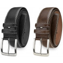 An elegant men's leather belt BT13