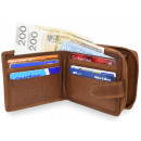An elegant NC43 RFID leather men's wallet
