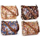 Großhandel Handtaschen: CB169 Owls Glitter Lackierte Handtaschen;