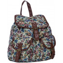FB45 Vintage Women's school backpack. Urban ba