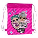 Großhandel Lizenzartikel: Rucksack - LOL Surprise Glitter Tasche auf A4