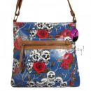 Borse A4 del 2478 Skull-Roses borsa da donna