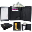 Elegante Herrenbrieftasche + JCB54 RFID-Box