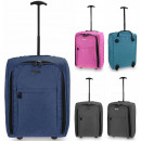 TB05 Tweed Travel Suitcase With Wheels