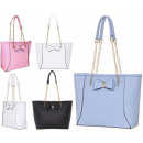 Großhandel Taschen & Reiseartikel: Damenhandtasche mit einer Schleife auf der Schulte
