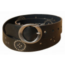 wholesale Belts: Women's Strap  Belts CHEROKEE Black Flowers