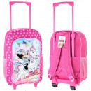 Suitcase. Backpack with wheels for children Minnie