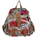 wholesale Bags & Travel accessories: CB151 Backpack Lacquered Skull backpacks