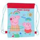 Großhandel Geschenkartikel & Papeterie: Rucksack - Sack Peppa Pig A4