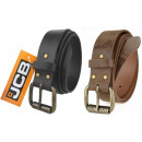 Thick men's leather belt JCB2 black / gray