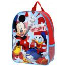Großhandel Lizenzartikel: Hier kommt Mickey Mickey Mouse Rucksack für Kinder