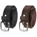 Elegant men's leather belt BT12