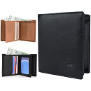 Elegant men's wallet natural leather RFID NC37
