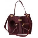 Großhandel Taschen & Reiseartikel: Handtasche + Pompon FB313