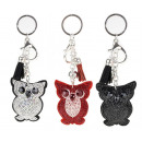 Beautiful keychain owl Glitter for handbags
