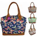 wholesale Gifts & Stationery: SALE CB166 Butterflies Neon Handbag Big Bag SALE