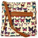 Großhandel Taschen & Reiseartikel: 2478 BUTTERFLY  BEIGE Handtaschen, Taschen
