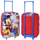 Suitcase with Mickey Mouse and Donald Duck wheels
