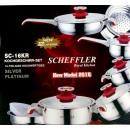 wholesale Houshold & Kitchen: Saucepan Set 16  tlg.-INDUKTION- NEW MODEL 2016 Red