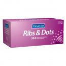 Kondome Pasante  Ribs & DOTS 144 Stück