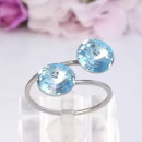 ingrosso Gioielli & Orologi: Anello in acciaio  con cristalli Swarovski