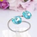 Roestvrij stalen  ring met Swarovski kristal